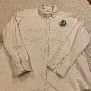 MADEWELL Flannel Shirt beige size S
